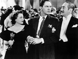 A Star Is Born, Janet Gaynor, Fredric March, Adolphe Menjou, 1937 Photo