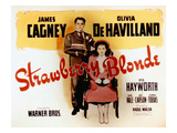 The Strawberry Blonde, James Cagney, Olivia De Havilland, 1941 Print