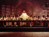 The Greatest Story Ever Told, David McCallum, Max Von Sydow, 1965, Last Supper Photo