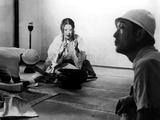 Isuzu Yamada, Director Akira Kurosawa On The Set Of Throne Of Blood, (AKA Kumonosu Jo), 1957 Poster