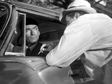 Cape Fear, Gregory Peck, Robert Mitchum, 1962, Confrontation At The Car Photo