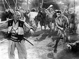 The Seven Samurai, (AKA Shichinin No Samurai), Takashi Shimura, Toshiro Mifune, 1954 Foto