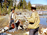 Ride The High Country, Joel McCrea, Mariette Hartley, Ron Starr, 1962 Print