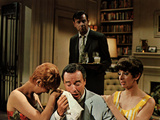 The Odd Couple, Carole Shelley, Jack Lemmon, Walter Matthau, Monica Evans, 1968 Photo