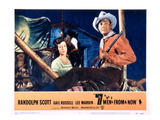 Seven Men From Now, (AKA 7 Men From Now), Gail Russell, Randolph Scott, 1956 Print