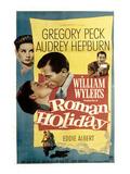 Vacances romaines, Audrey Hepburn, Gregory Peck, 1953 Poster