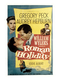 Roman Holiday, Audrey Hepburn, Gregory Peck, 1953 Poster