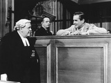 Witness For The Prosecution, Charles Laughton, Tyrone Power, 1957 Photo