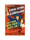 They Died With Their Boots On, Errol Flynn, Olivia De Havilland, 1941 Photographie