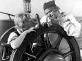 Treasure Island, Jackie Cooper, Wallace Beery, 1934 Photo