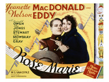 Rose Marie, Nelson Eddy, Jeanette MacDonald, 1936 Posters