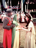 Ivanhoe, Robert Taylor, Joan Fontaine, Elizabeth Taylor, 1952 Photo