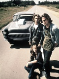Two-Lane Blacktop, Dennis Wilson, James Taylor, Laurie Bird, 1971 Photo