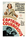 Captains Courageous, Freddie Bartholomew, Spencer Tracy, Lionel Barrymore, 1937 Affiches