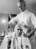 Mad Love, Peter Lorre Getting His Head Shaved For Upcoming Role, 1935 Photo