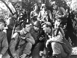 A Walk In The Sun, Norman Lloyd, Dana Andrews, Herbert Rudley, Lloyd Bridges, Richard Conte, 1945 Photo