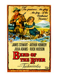 Bend Of The River, James Stewart, Julie Adams, 1952 Print
