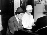 Chico Marx, Groucho Marx At The Piano On The Set Of Duck Soup, 1933 Photo