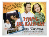 Young Dr. Kildare, Lionel Barrymore, Lew Ayres, Lynne Carver, 1938 Posters