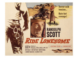 Ride Lonesome, Randolph Scott, Karen Steele, 1959 Plakater