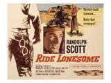 Ride Lonesome, Randolph Scott, Karen Steele, 1959 Plakater