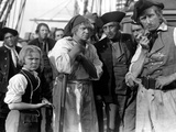 Treasure Island, Jackie Cooper, Wallace Beery, 1934, Pirates On Ship Photo