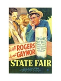 State Fair, Lew Ayres, Janet Gaynor, Will Rogers, 1933 Lmina