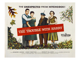 The Trouble With Harry, John Forsythe, Shirley MacLaine, Edmund Gwenn, Mildred Natwick, 1955 Affiches