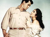 Giant, Rock Hudson, Elizabeth Taylor, 1956 Photo