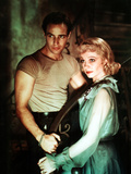 A Streetcar Named Desire, Marlon Brando, Vivien Leigh, 1951 Photo