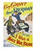 I Was A Male War Bride, Cary Grant, Ann Sheridan, 1949 Posters