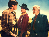 The Searchers, Jeffrey Hunter, John Wayne, Ward Bond, 1956 Photo