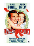 Christmas In July, Dick Powell, Ellen Drew, 1940 Posters