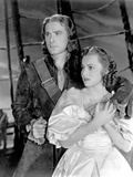 Captain Blood, Errol Flynn, Olivia De Havilland, 1935 Photo