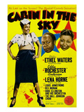 Cabin In The Sky, Lena Horne, Eddie 'Rochester' Anderson, Ethel Waters, 1943 Poster