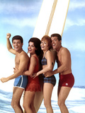 Beach Blanket Bingo, Frankie Avalon, Annette Funicello, Deborah Walley, John Ashley, 1965 Print