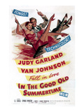 In The Good Old Summertime, Van Johnson, Judy Garland, 1949 Photographie