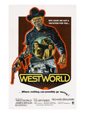 Westworld, Yul Brynner, James Brolin, Richard Benjamin, 1973 Photo