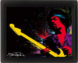 Jimi Hendrix (Paint) Affiches