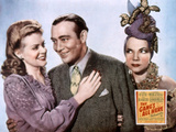 The Gang's All Here, Alice Faye, Phil Baker, Carmen Miranda, 1943 Photo