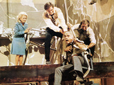 Earthquake, Monica Lewis, Charlton Heston, Lorne Greene, 1974 Photo