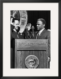 Harold Washington,Charles Freeman Framed Photographic Print by Michael Cheers