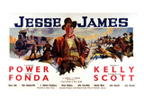 Jesse James, Tyrone Power As Jesse James, 1939 Posters