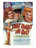 That Night In Rio, Alice Faye, Don Ameche, Carmen Miranda, 1941 Posters