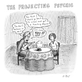 The Projecting Psychic - New Yorker Cartoon Premium Giclee Print by Roz Chast