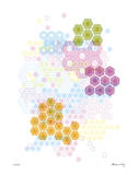 Honeycomb Hexagon Giclee Print by Adrienne Wong