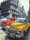 Havana Vintage Classic Cars I Print by Antonio Massa