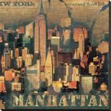 New York XVIII Stretched Canvas Print by John Clarke