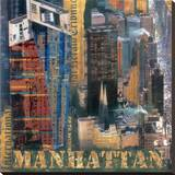New York XIX Stretched Canvas Print by John Clarke