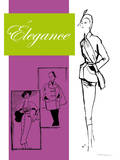 1950's Fashion - Elegance Prints by Odette Lafontaine